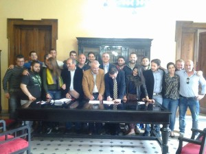 Firma del protocollo di intesa con il Comune di Palmi